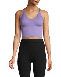 Electric Yoga Women's Crisscross Seamless Bra - White - Size Xs/s
