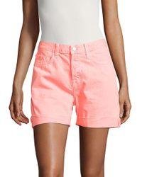 J Brand Kennedy Cotton Denim Shorts - Pink