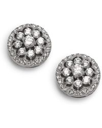 Adriana Orsini - Faceted Floral Button Earrings - Lyst