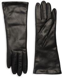 Portolano Classic Leather Gloves - Purple