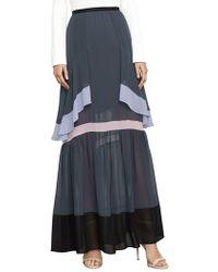 BCBGMAXAZRIA - Yuliana Color-blocked Maxi Skirt - Lyst