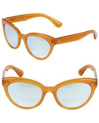 Oliver Peoples - Roella 55mm Mirrored Cat Eye Sunglasses - Lyst