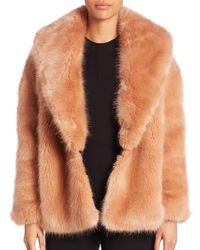 Opening Ceremony - Faux Fur Cardigan - Lyst