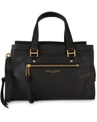 Marc Jacobs Cruiser Leather Convertible Satchel - Black