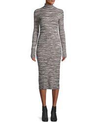 525 America Turtleneck Cotton-blend Sweater Dress - Black