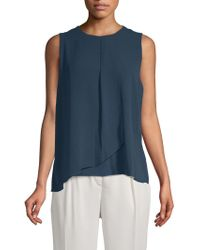 Vince Camuto - Textured Sleeveless Top - Lyst