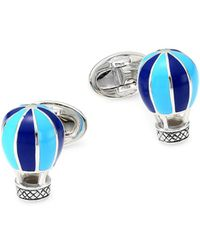 Jan Leslie - Sterling Silver Hot Air Balloon Cufflinks - Lyst