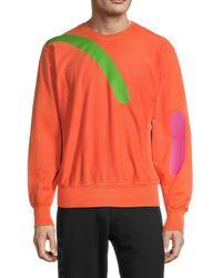 Versace Men's Graphic Crewneck Sweatshirt - Orange - Size Xxxl