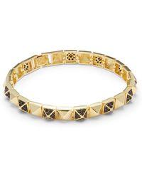 Noir Jewelry | Cubic Zirconia & 18k Gold-plated Bracelet | Lyst