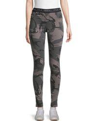 Kendall + Kylie Camouflage Denim Leggings - Multicolour