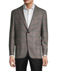 Hickey Freeman Men's Milburn Ii Wool Sportcoat - Tan - Size 44 R - Grey