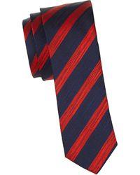 HUGO Stripe Silk Tie - Red