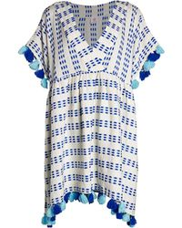 Tessora Women's Luna Printed Tassel-trim A-line Coverup - Playa - Size Xs/s - Pink
