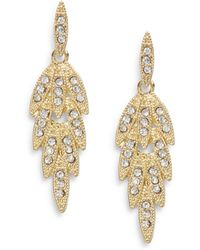 Nine West - Glass & Goldtone Metal Drop Earrings - Lyst