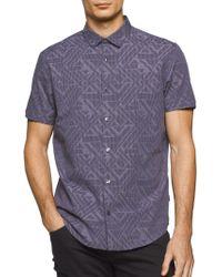 CALVIN KLEIN 205W39NYC - Abstract Textured Sportshirt - Lyst