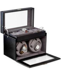 Bey-berk Leather Watch Winder & Storage Case - Black
