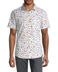 Sovereign Code Printed Short-sleeve Shirt - White