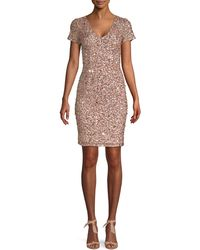 Adrianna Papell Embellished Sheath Dress - Multicolour