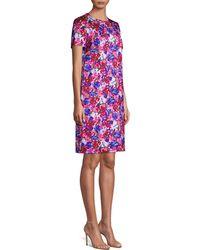 ESCADA Divisu Floral Print Shift Dress - Pink