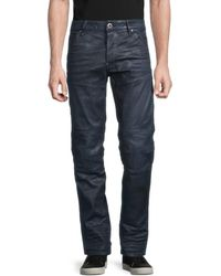 G-Star RAW Men's Slim-fit Jeans - Dry Waxed - Size 32 32 - Blue