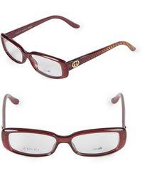 7ccadf35fd9e7 Lyst - Gucci Square Plastic Optical Glasses in Red