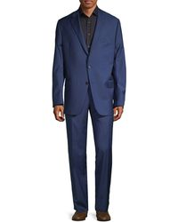Hickey Freeman Classic Fit Milburn Ii Notch Lapel Wool Suit - Blue