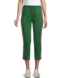 Rebecca Minkoff Jolie Striped Tape Jogging Pants - Green