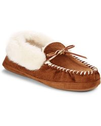 Saks Fifth Avenue Faux Fur-lined Thinsulate Slippers - Brown