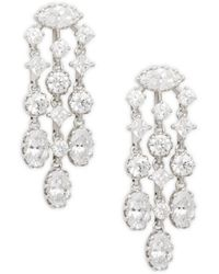 Adriana Orsini Women's Silvertone & Crystal Chandelier Earrings - Metallic