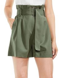 Vince Camuto - High-waist Belted Paperbag Shorts - Lyst