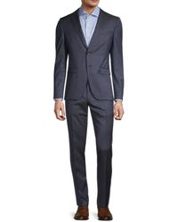 BOSS by HUGO BOSS Reymond/wenten Extra Slim-fit Virgin Wool Suit - Blue