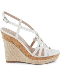 Charles David Women's Strappy Cork & Espadrille Wedge Sandals - Off White - Size 10