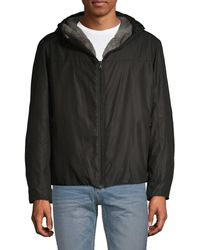 Saks Fifth Avenue Collection By Esemplare Eco Faux Fur-trim Hooded Jacket - Black