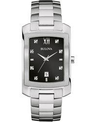 Bulova Stainless Steel & Diamond Bracelet Watch - Metallic