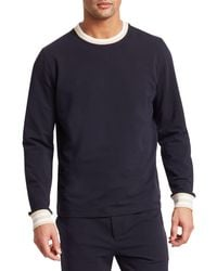 Saks Fifth Avenue Modern French Terry Sweatshirt - Blue