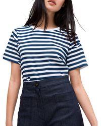 Kate Spade Short Sleeve Striped T-shirt - Blue