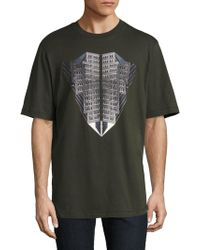 36 Pixcell - Graphic Printed Cotton Tee - Lyst