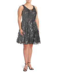 Marina - Plus Embellished Fit-&-flare Dress - Lyst