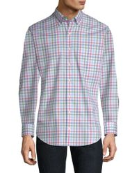Peter Millar Crown Ease Arendale Check Shirt - Blue
