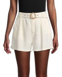 PAIGE Montana Belted Shorts - White