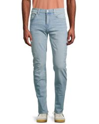 7 For All Mankind Men's Paxtyn Squiggle Skinny Jeans - Banyan - Size 31 - Blue