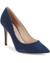 Charles David - Genesis Stiletto Heel Suede Court Shoes - Lyst