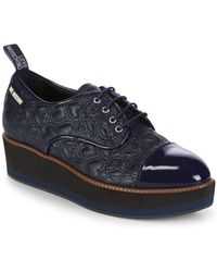 Love Moschino - Quilted Leather Platform Derbys - Lyst
