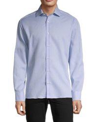 Bertigo Dobby Textured Shirt - Blue