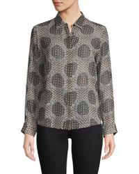 Max Mara - Printed Silk Button-down Shirt - Lyst