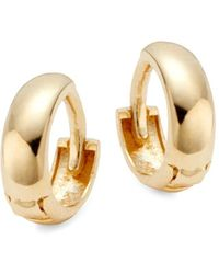 Saks Fifth Avenue Women's 14k Yellow Gold Dome Huggie Hoop Earrings - Metallic