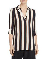 Lafayette 148 New York - Women's Mela Striped Blouse - Black Multi - Size L - Lyst