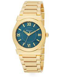 Ferragamo - Vega Gold Stainless Steel Bracelet Watch - Lyst
