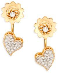 Roberto Coin Women's 18k Yellow Gold, Ruby & Diamond Earrings - Red