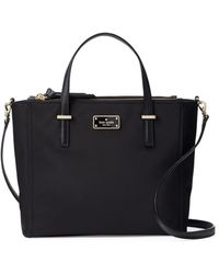Kate Spade Alyse Leather-trim Convertible Tote - Black